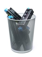 Used laser printer cartridges