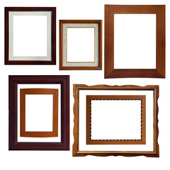 A lot of type isolate wood frame