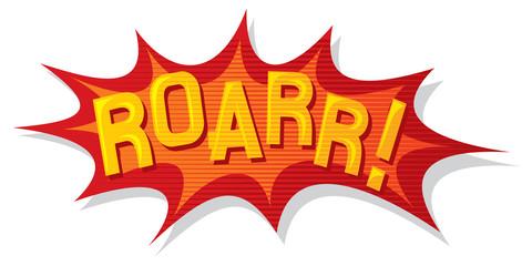 cartoon - roarr (comic book element)