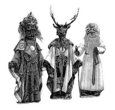 Masks Tibet-Mongolia