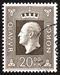 Postage stamp Norway 1969 King Olav V