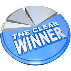The Clear Winner Pie Chart Biggest Piece Market Leader
