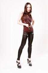 Fashion girl whit black glasses 3
