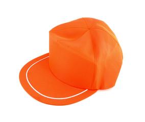 Orange Cap isolated on white background