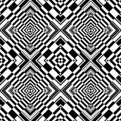 Tuinposter Psychedelic Seamless op art geometric pattern.