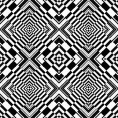 Wall Murals Psychedelic Seamless op art geometric pattern.