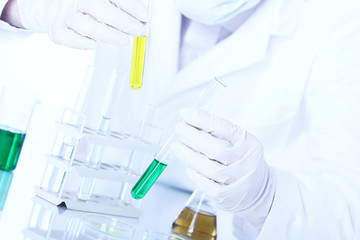 Science research in laboratory