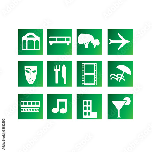 Set Of Entertainment And Travel Icons Stock Image And Royalty Free