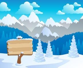Mountain theme landscape 5