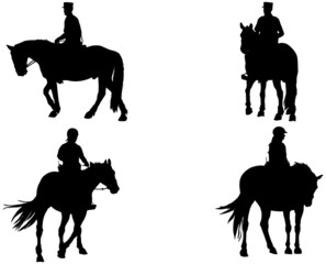 cheval et cavalier de police