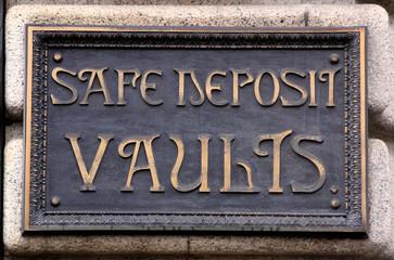 Safe Deposit Vaults Sign