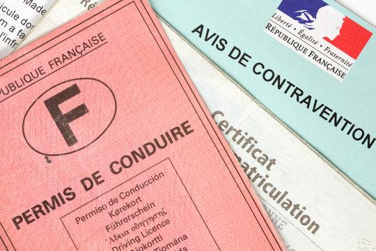 Avis de contravention avec permis