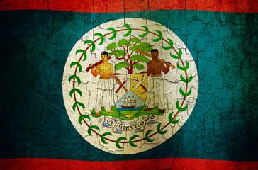 Grunge Belize flag