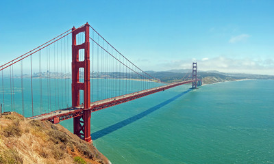 The Golden Gate Bridge in San Francisco with beautiful azure oce