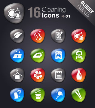 Glossy Pebbles - Cleaning Icons