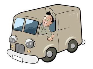 lieferwagen cartoon