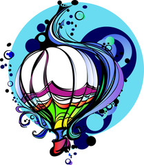 Colorful Vector Illustration of a Hot Air Balloon