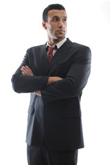 business man isolated over white background