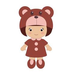 Little girl in bear costume