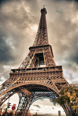 Wall Mural - Bottom-Up view of Eiffel Tower, Paris