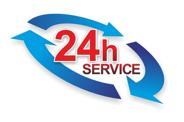 Wall Mural - Service 24h b