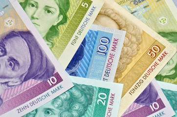 alte deutsche Banknoten