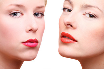 beauty frauen close up gesicht kosmetik