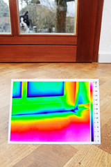 thermography showing leakages in the door seal