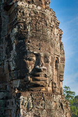 Fototapete - Faces of Bayon temple, Angkor, Cambodia