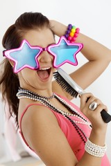 Teenage girl having fun