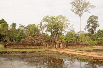 Banteay Srei temple and moat