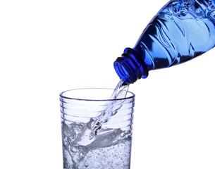 Wasserglas mit Wasserflasche