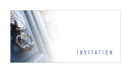 Invitation, carte, carton, marketing, promotion, maison, immo