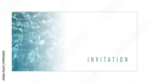 Invitation Carte Carton Marketing Promotion Piscine Eau Photo