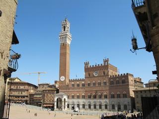 Torre del Mangia, Piazza del Campo, Siena, Toskana