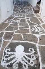 Street of Naoussa, Paros island (Greece)