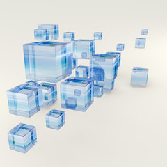 Glass cubes background