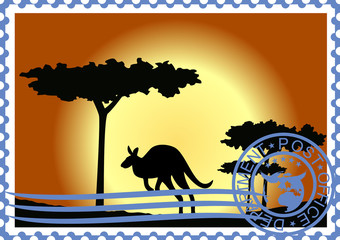 Postage stamp. Australia.