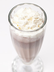iced blended chocolate cocktail milk