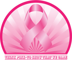 Think Pink concept design. Vector