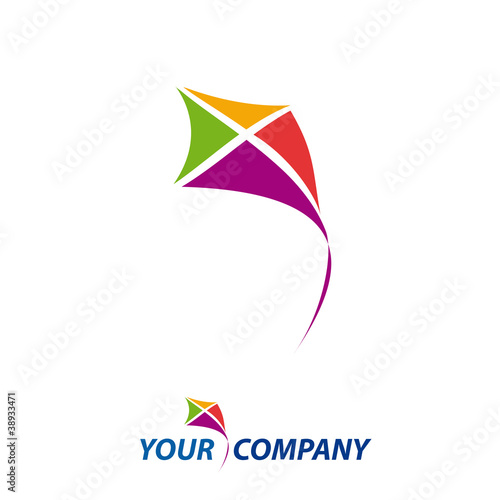 logo kite concept of freedom vector stock image and royalty free