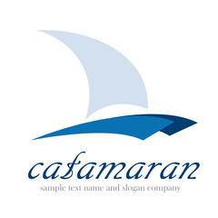 Logo catamaran,  yacht and boat # Vector