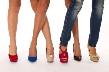 Shoes on women legs