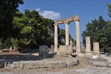 Grecia, Olympia. Olimpia tempio di Philippeion