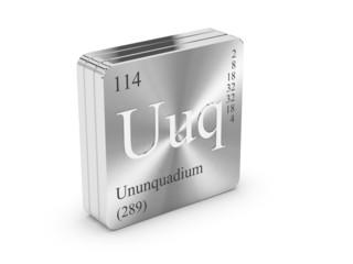 Search photos ununquadium ununquadium element of the periodic table on metal steel block urtaz Image collections