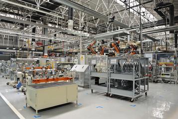 Welding production line workshop