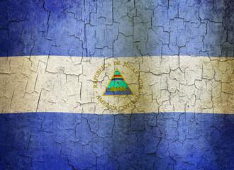 Grunge Nicaragua flag