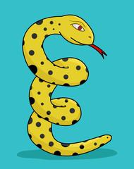 evil yellow snake