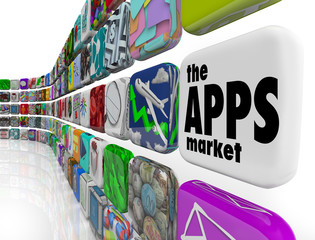 The Apps Market Wall of App Application Software Icons