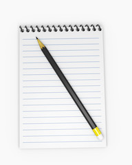 Notebook with pencil 2